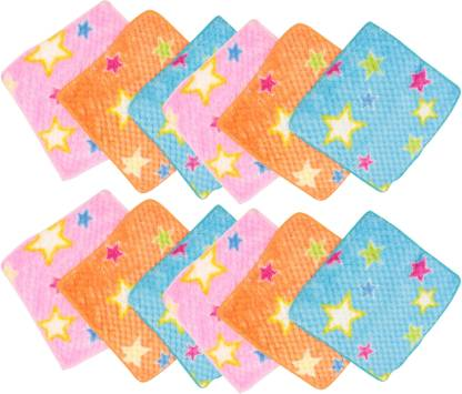"Neska Moda Womens Star Soft Cotton 25X25 CM [""Blue"",""Pink"",""Orange""] Handkerchief  (Pack of 12)"