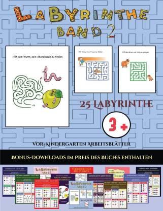 Vor-Kindergarten Arbeitsblatter (Labyrinthe - Band 2)