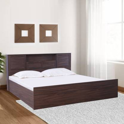 HomeTown Bolton Engineered Wood King Box Bed   Finish Color   Walnut  HomeTown Beds