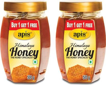 Apis Himalaya Honey  (Combo Pack 1 + 1 Free, 500 g each)  (500 g)