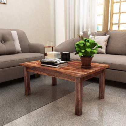 Home Edge Sheesham Wood Solid Wood Coffee Table Finish Color   TEAK  Home Edge Coffee Tables