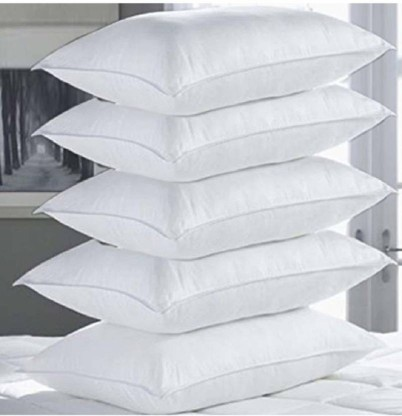 COTTON Cotton Solid Sleeping Pillow Pack of 5