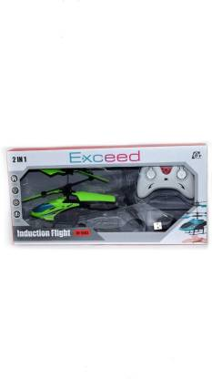 kdsn Exceed Induction Type 2-in-1 Flying Indoor Helicopter with Remote (Green)