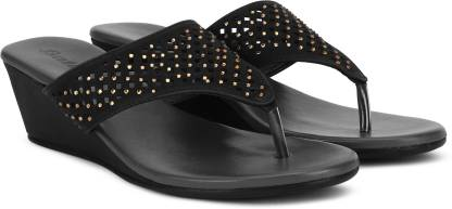 Bata Women Black Wedges