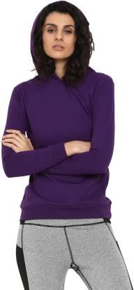 Chkokko Full Sleeve Solid Women Sweatshirt