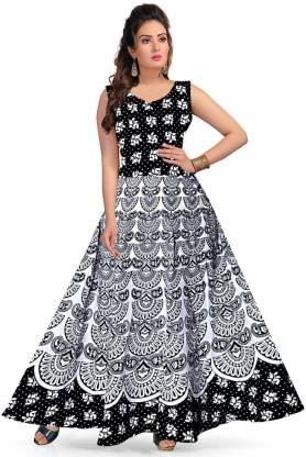 Unique Choice Women Maxi Black Dress
