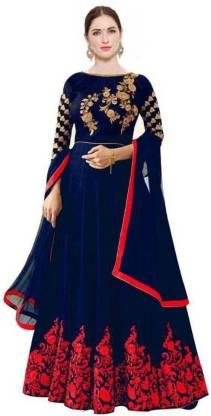 ASHTAVINAYAK Satin Embroidered Salwar Suit Material