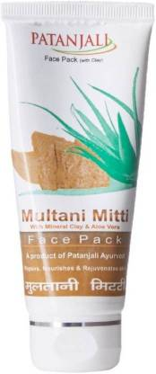 PATANJALI Multani Mitti Aloevera Face Pack (Pack of 2)