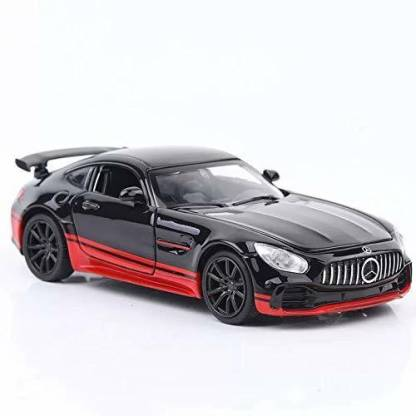 TULLY (Mercedes Benz AMG GT) 1:32 Scale Model Mercedes Benz AMG GT Super Sports car Metal Body with Light and Sound Open Doors Pull Alloy Toy
