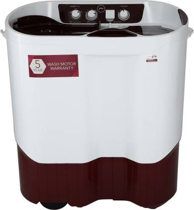 Godrej 8.5 kg Semi Automatic Top Load Washing Machine White, Maroon