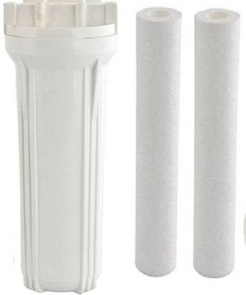 Anveeras RO Pre Filter Housing Bowl with 2 Filter Solid Filter Cartridge