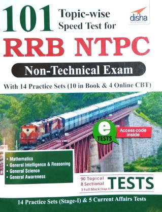 101 Topic-Wise Speed Tests for Rrb Ntpc Non Technical Exam with 14 Practice Sets (10 in Book & 4 Online CBT)