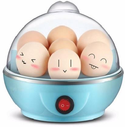 Trendegic Electronic Egg Boiler Single Layer Steamer 7 Eggs (Blue) Egg Cooker