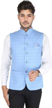 YOU FIT Checkered Men Waistcoat