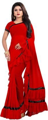 Shaibo saree Self Design Fashion Georgette Saree