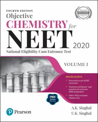 Objective Chemistry for NEET 2020 | Volume 1 | Fourth Edition | By Pearson