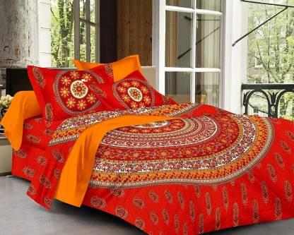 ebbani 259 TC Cotton Double King Self Design Bedsheet