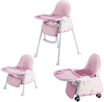 SYGA High Chair for Baby Kids, Safety Toddler Feeding Booster Seat Dining Tab