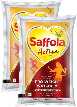 Saffola Active Blended Oil Pouch  (2 x 1 L)