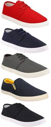 Chevit Combo Pack of 5 Casual Sneakers With Canvas Shoes For Men