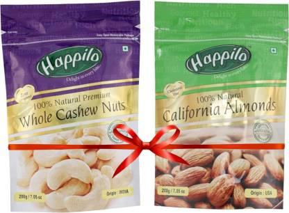 Happilo 100% Natural Cashews, Almonds  (400 G)