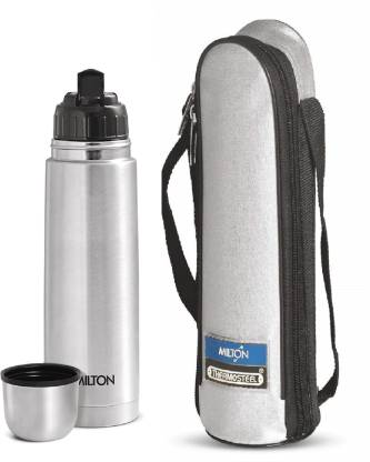 Milton Thermosteel Flip lid 1000 ml Flask  (Pack of 1, Silver)