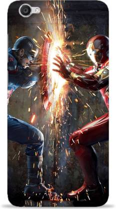 NDCOM Back Cover for VIVO Y53 Avengers End Game Iron Man And Captain America Printed