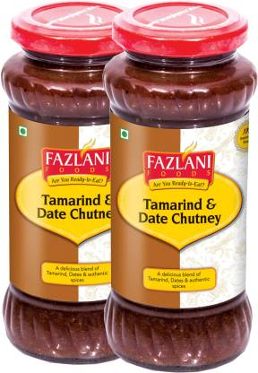 FAZLANI FOODS Ready to Eat Tamrind & Date Chutney (Pack of 2, 350gm each) Chutney Paste