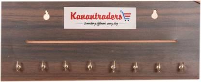 Kanantraders One Line 8 Hook Wood Key Holder