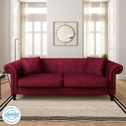 Flipkart Perfect Homes Annecy Fabric 3 Seater  Sofa