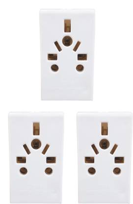 Mopslik Universal Multi Plug for Indian Sockets  Pack of 3  5 A Three Pin Socket