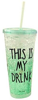 Modone Attractive Acrylic Frosty Mason Jar Ice Cup with strew 650 ml Sipper