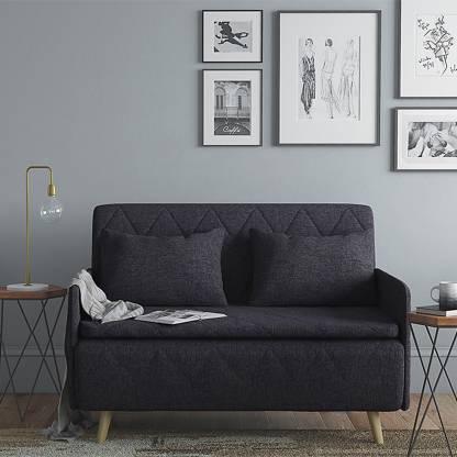 Urban Ladder Makati Single Solid Wood Sofa Bed