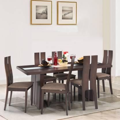 RoyalOak Cardiff Solid Wood 6 Seater Dining Set