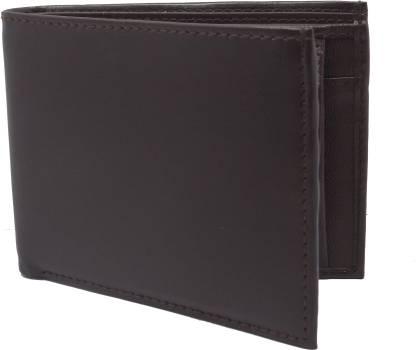 Men Brown Artificial Leather Wallet(5 Card Slots)