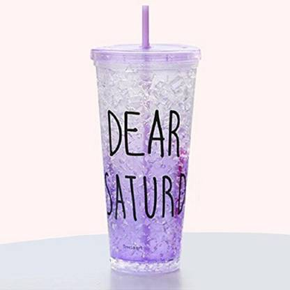 Modone Attractive Acrylic Frosty Mason Jar Ice Cup with straw 650 ml Sipper