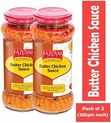 FAZLANI FOODS Ready to Eat Butter Chicken Sauce (Pack of 2, 285gm each) Sauce