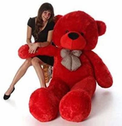 Tedstree 3feet red cute and soft teddy hug able teddy anniversary gift someone special  - 95.1 cm