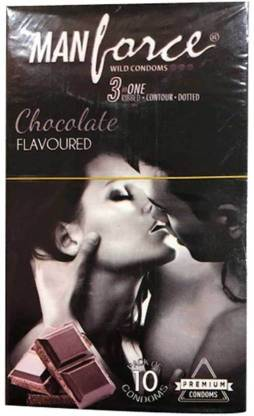 Manforce Chocolate Flaoured (Pack of 10) Condom (Set of 10, 1S) Condom