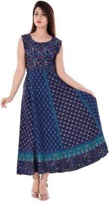 RAW WASH Women Maxi Dark Blue Dress