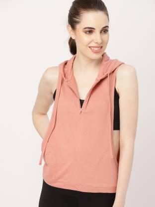Dressberry Sleeveless Solid Women Sweatshirt