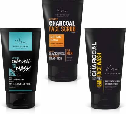 Men Deserve De-Tan Facepack for Skin Whitening (115 ml) - Pack Of 3