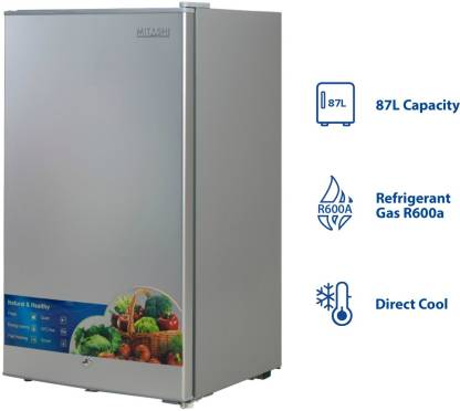 Buy Refrigerators Mitashi 87 L 2 star Direct-Cool Single-Door Refrigerator (MSD090RF100, Silver)