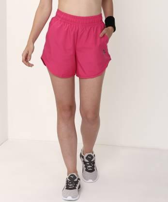 Puma Solid Women Pink Regular Shorts