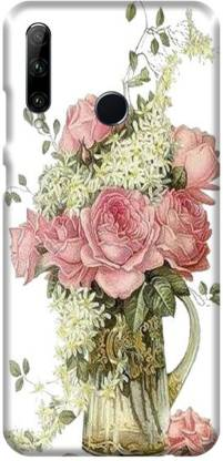 PNBEE Back Cover for Honor 20 lite, HRY-LX1T, Honor 10i- Flower Print Mobile Case Cover