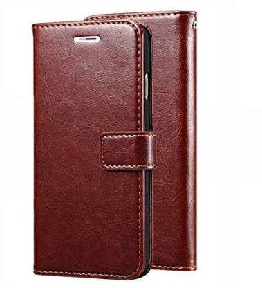 SESS XUSIVE Flip Cover for Leather Wallet Flip Book Cover Case for Redmi K20 Pro - (Brown)