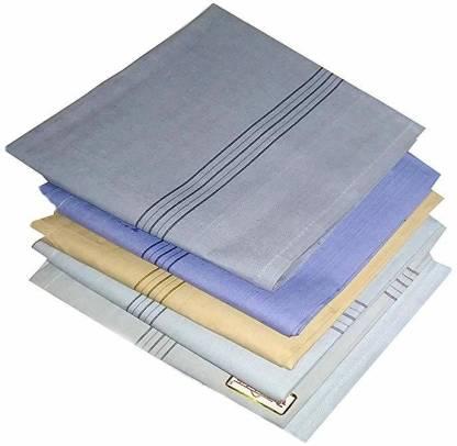 "R.O.H.C Premium Striped Handkerchief For Men [""Color""] Handkerchief"