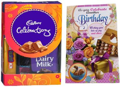 Cadbury Mini Chocolate Gift Pack With Pretty l Birthday Greeting Card Combo