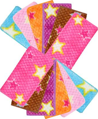 "Neska Moda Womens Star Made On 25X25 CM [""Purple"",""Pink"",""Orange""] Handkerchief"