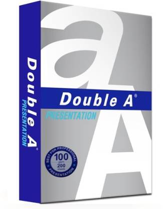 Double A 100 GSM Unruled A4 Copy Paper Set of 1, White  Double A Drawing Papers